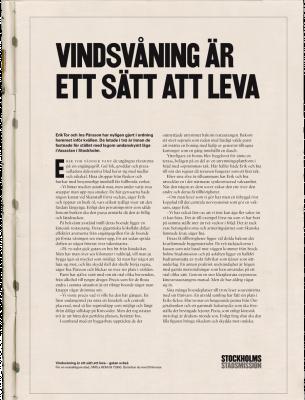 """Tidningsannonsen """"Vindsvåning är ett sätt att leva"""" nominerad till Guldägget"""