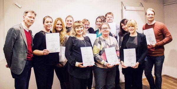 Diplomutdelning för certifierade fundraisers