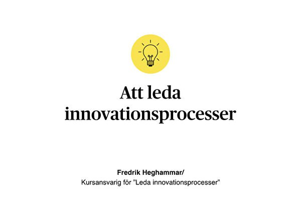 Berghs Morning Routine – Leda innovationsprocesser