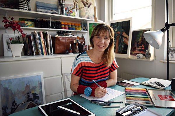 Caroline förverkligade sin dröm och blev illustratör