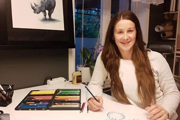 Karin ville utvecklas som illustratör